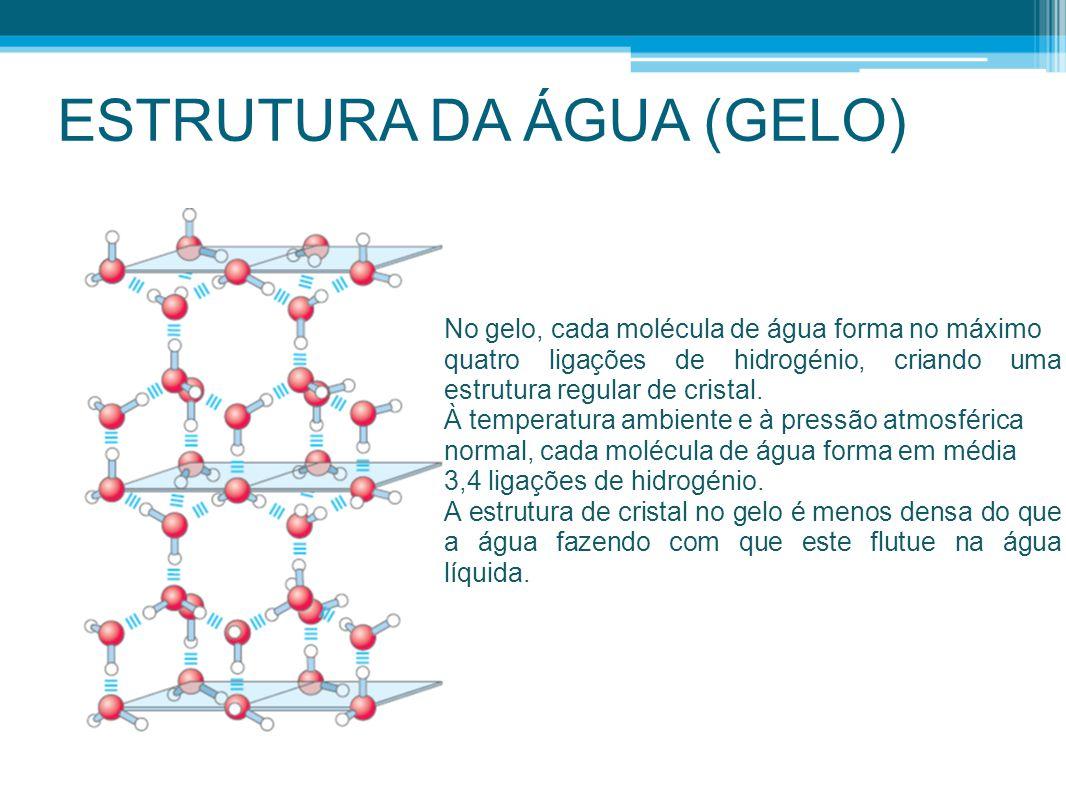 ESTRUTURA DA ÁGUA (GELO)