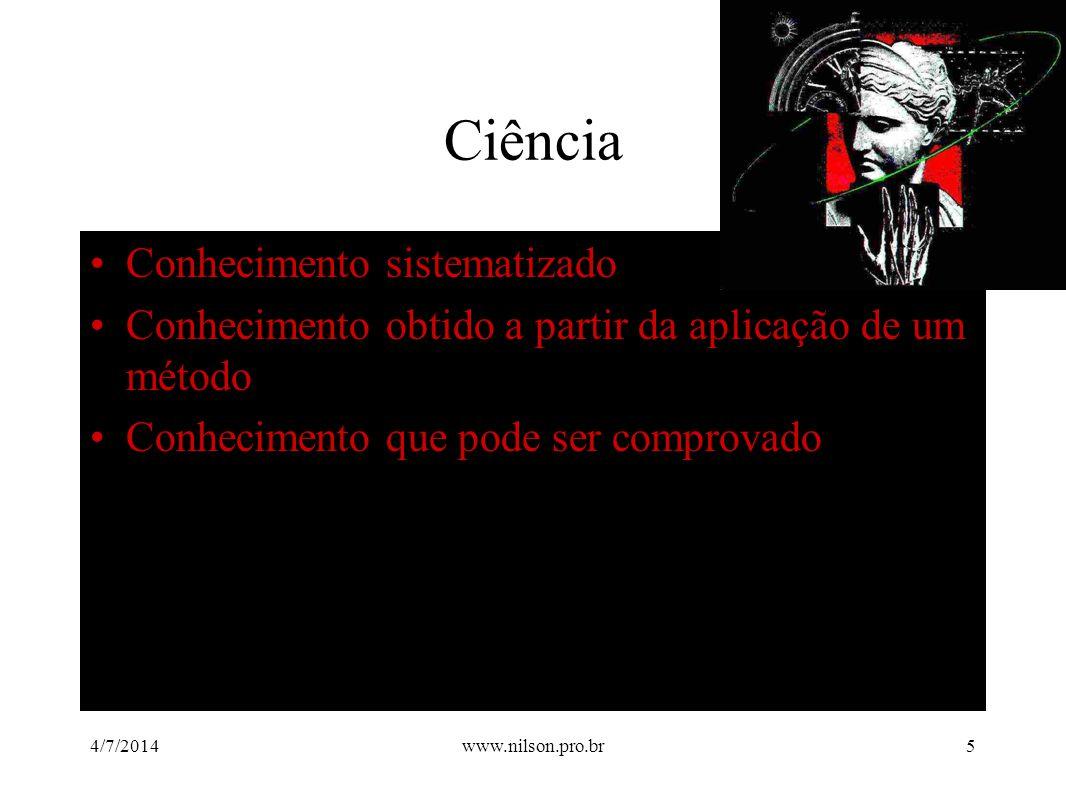 Ciência Conhecimento sistematizado
