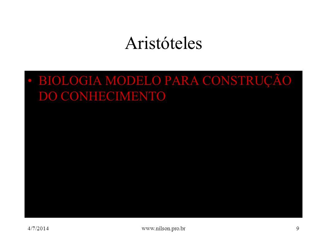 Aristóteles BIOLOGIA MODELO PARA CONSTRUÇÃO DO CONHECIMENTO 02/04/2017