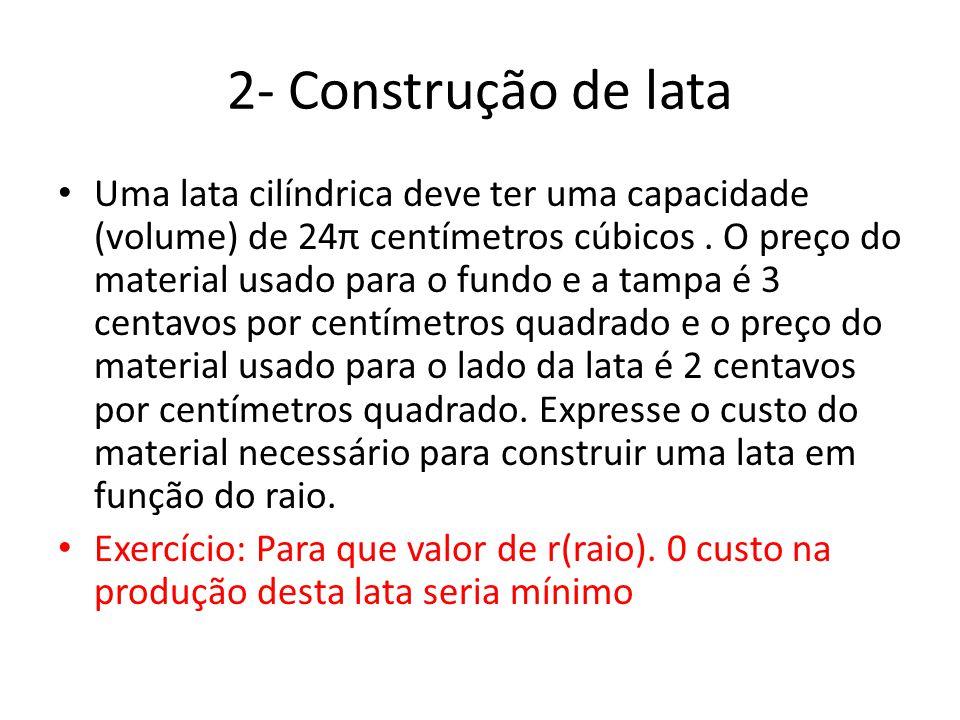 2- Construção de lata
