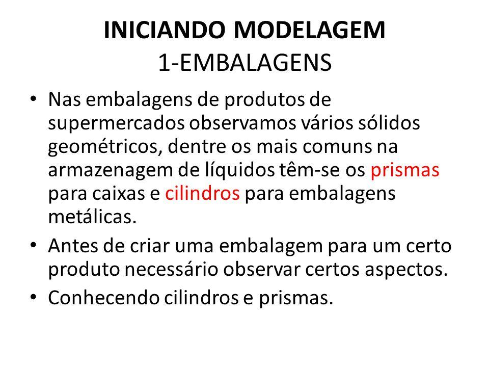 INICIANDO MODELAGEM 1-EMBALAGENS