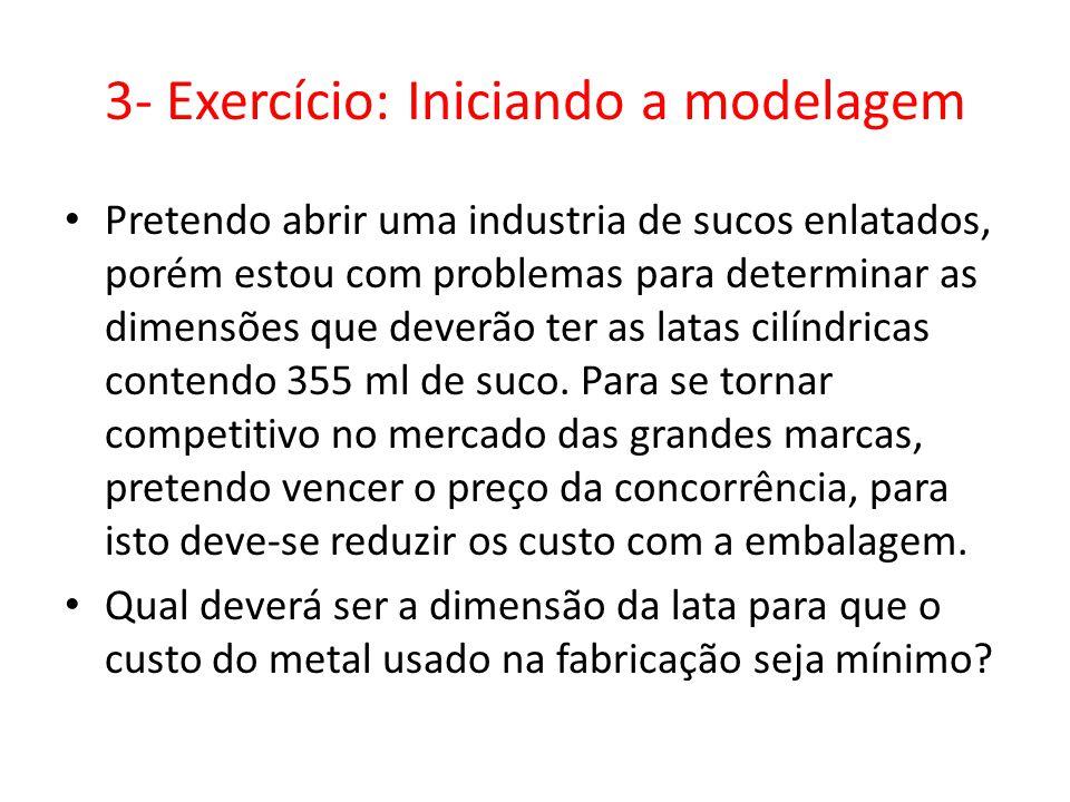 3- Exercício: Iniciando a modelagem