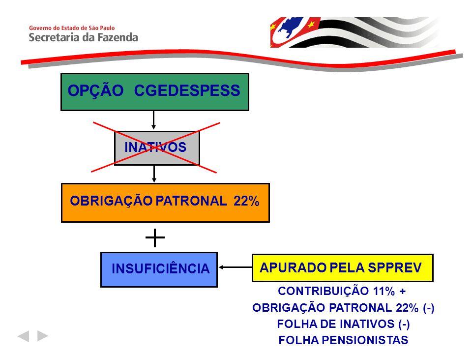 OBRIGAÇÃO PATRONAL 22% (-)