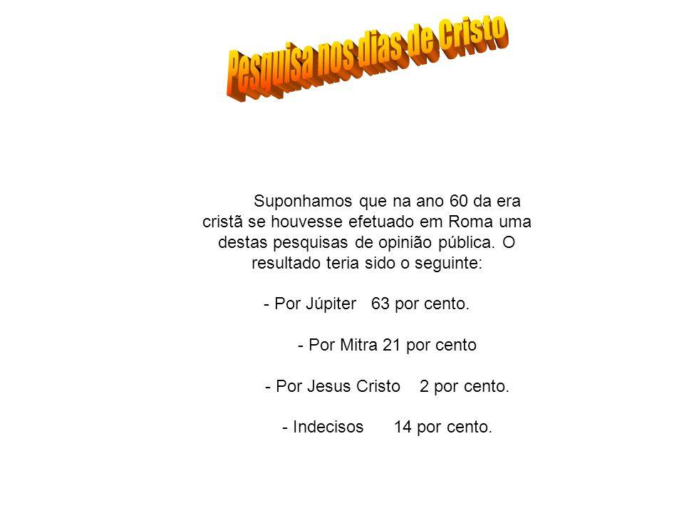 Pesquisa nos dias de Cristo