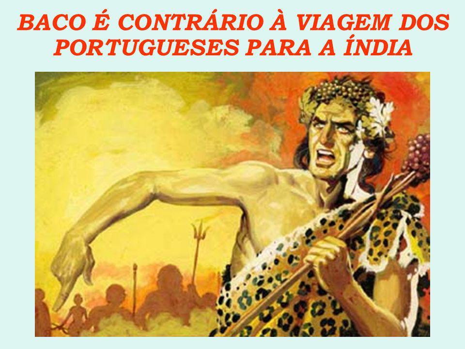 BACO É CONTRÁRIO À VIAGEM DOS PORTUGUESES PARA A ÍNDIA