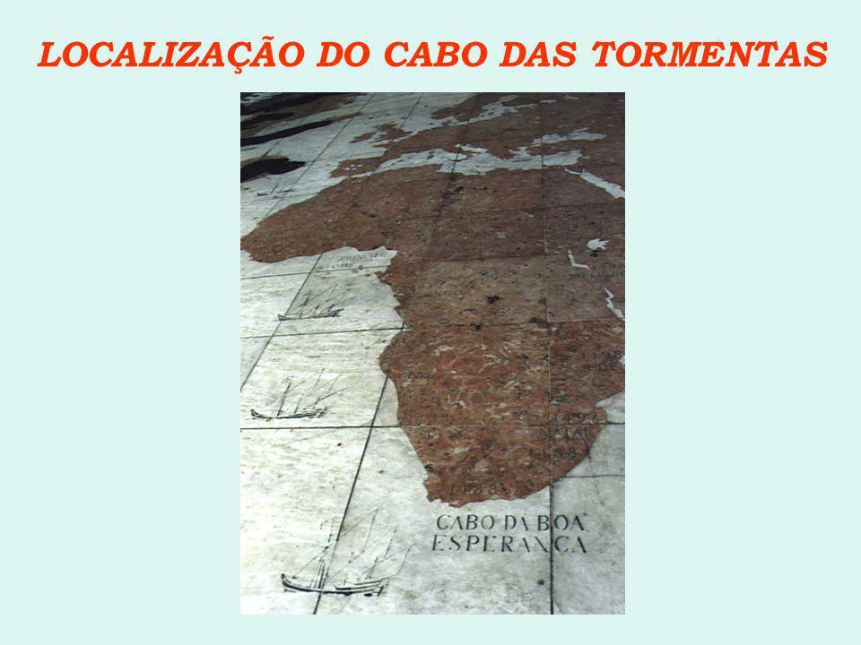 LOCALIZAÇÃO DO CABO DAS TORMENTAS
