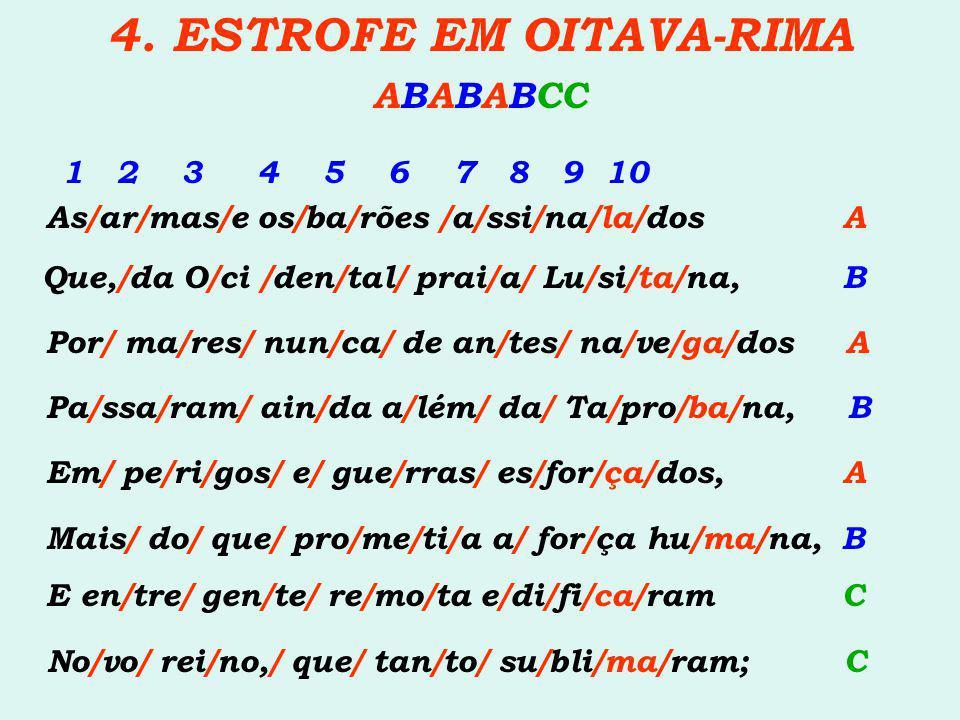 4. ESTROFE EM OITAVA-RIMA