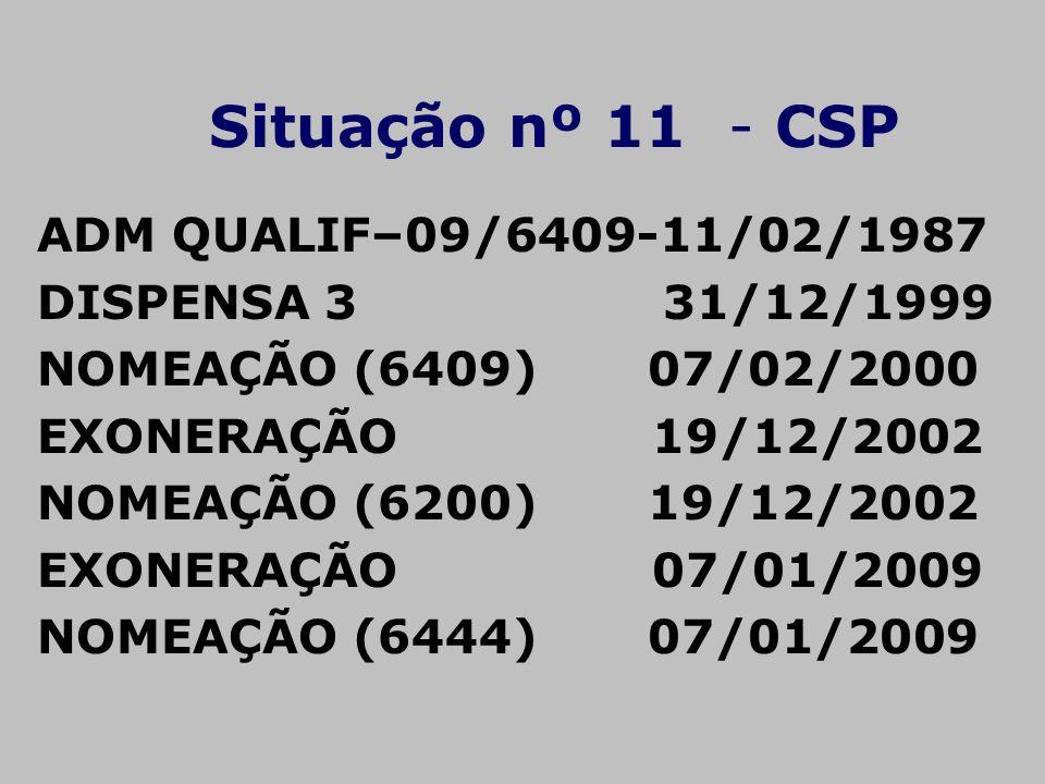 ADM QUALIF–09/6409-11/02/1987 DISPENSA 3 31/12/1999