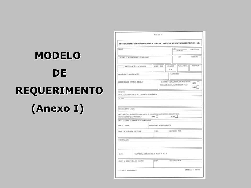 MODELO DE REQUERIMENTO (Anexo I)