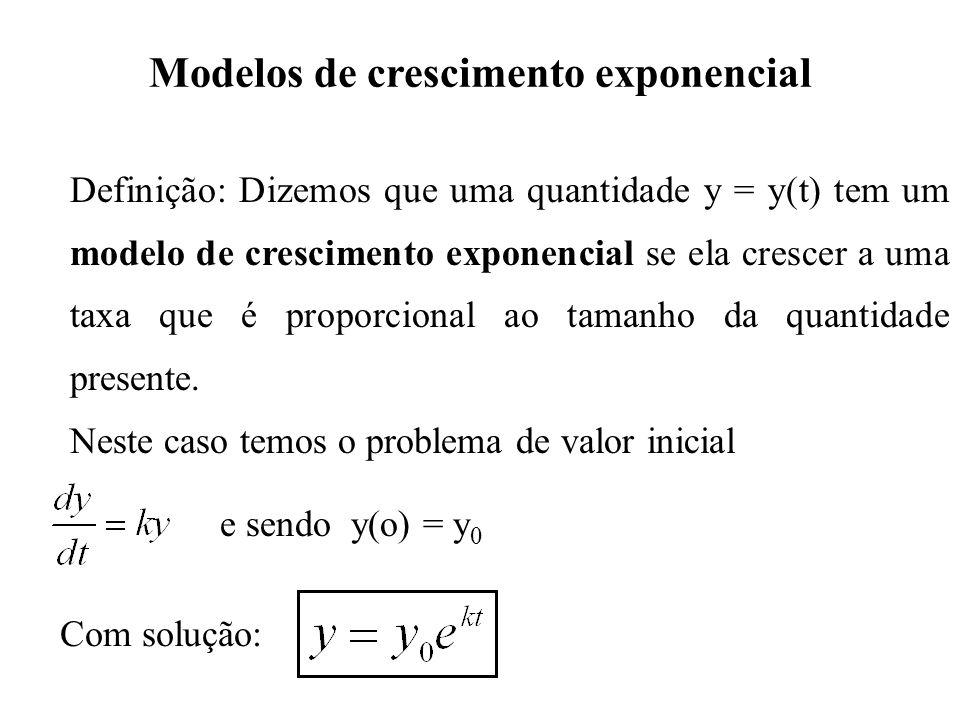 Modelos de crescimento exponencial