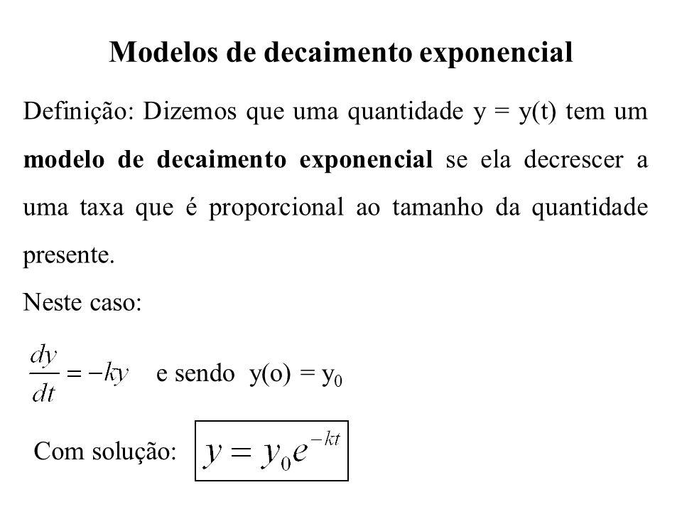 Modelos de decaimento exponencial