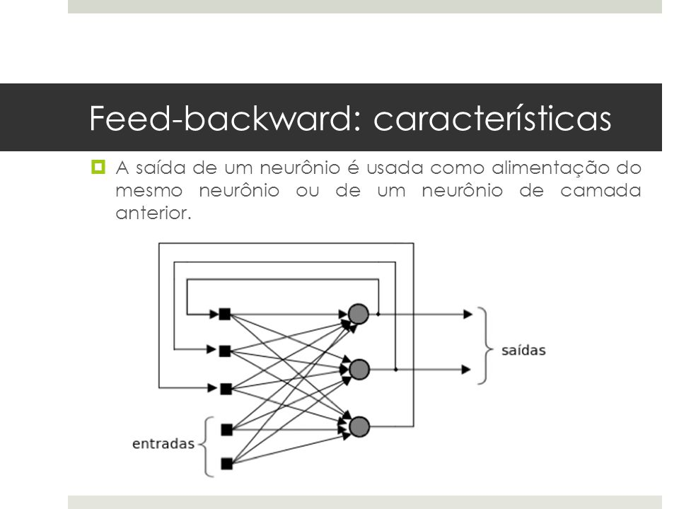 Feed-backward: características