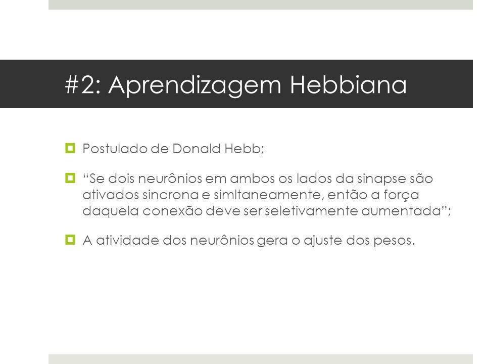 #2: Aprendizagem Hebbiana