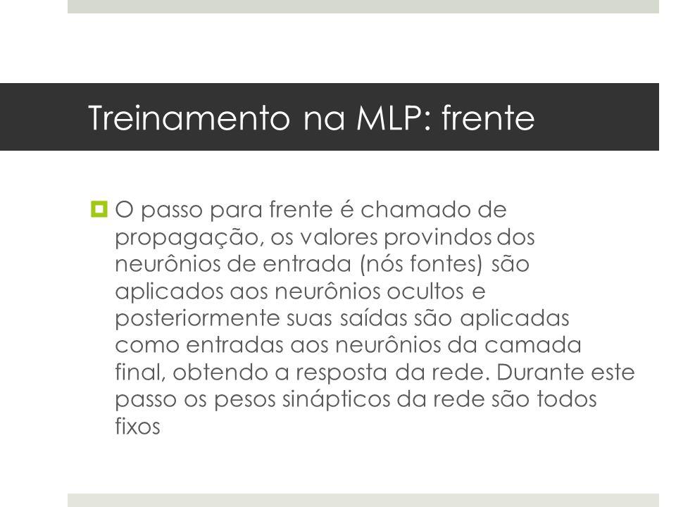 Treinamento na MLP: frente