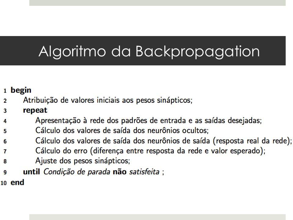 Algoritmo da Backpropagation