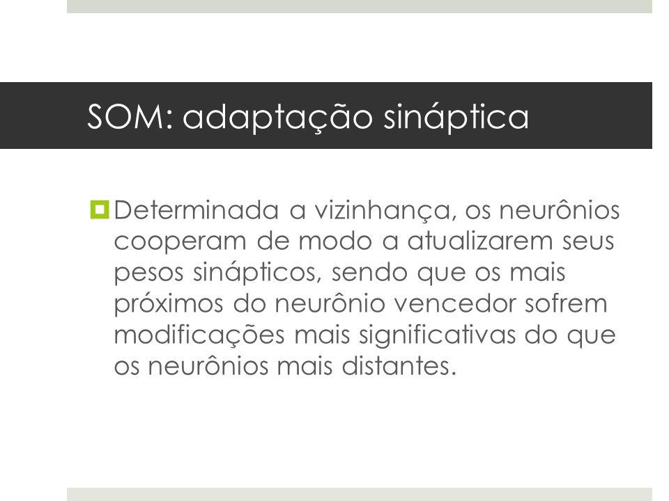 SOM: adaptação sináptica