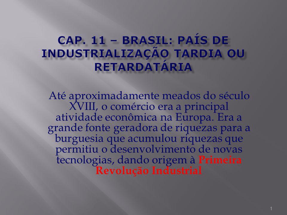 Cap. 11 – Brasil: país de industrialização tardia ou retardatária