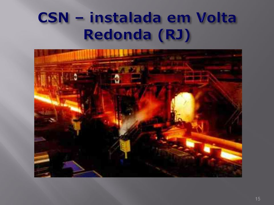 CSN – instalada em Volta Redonda (RJ)