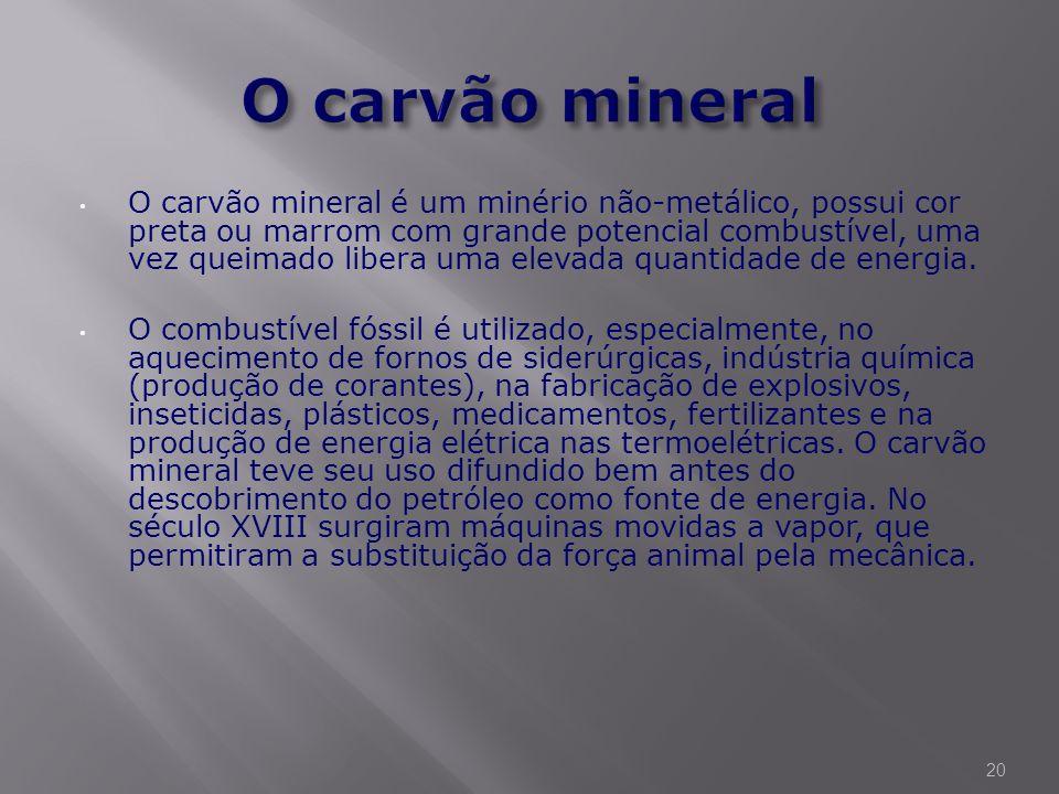 O carvão mineral