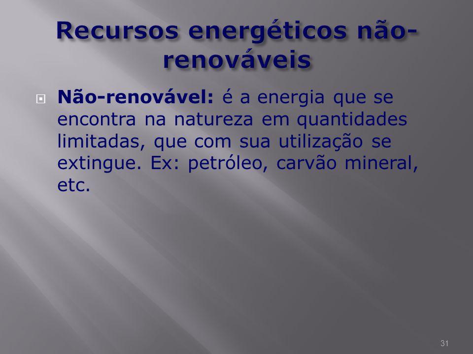Recursos energéticos não- renováveis