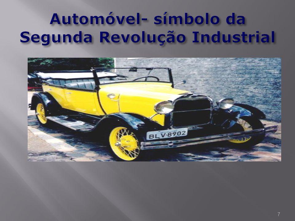 Automóvel- símbolo da Segunda Revolução Industrial