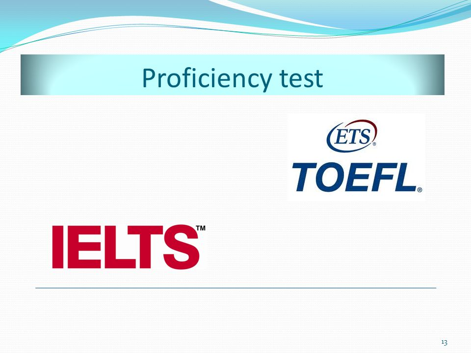 Proficiency test This is the price for an International English Test