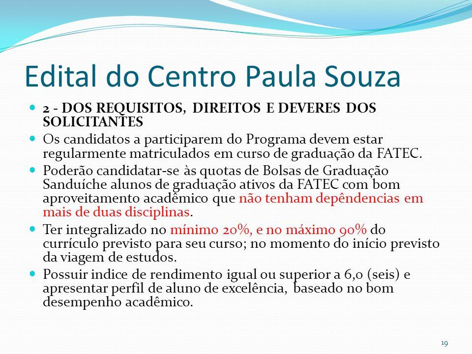 Edital do Centro Paula Souza