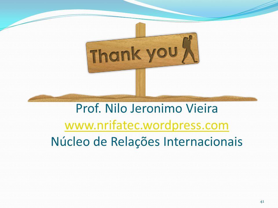 Prof. Nilo Jeronimo Vieira www. nrifatec. wordpress