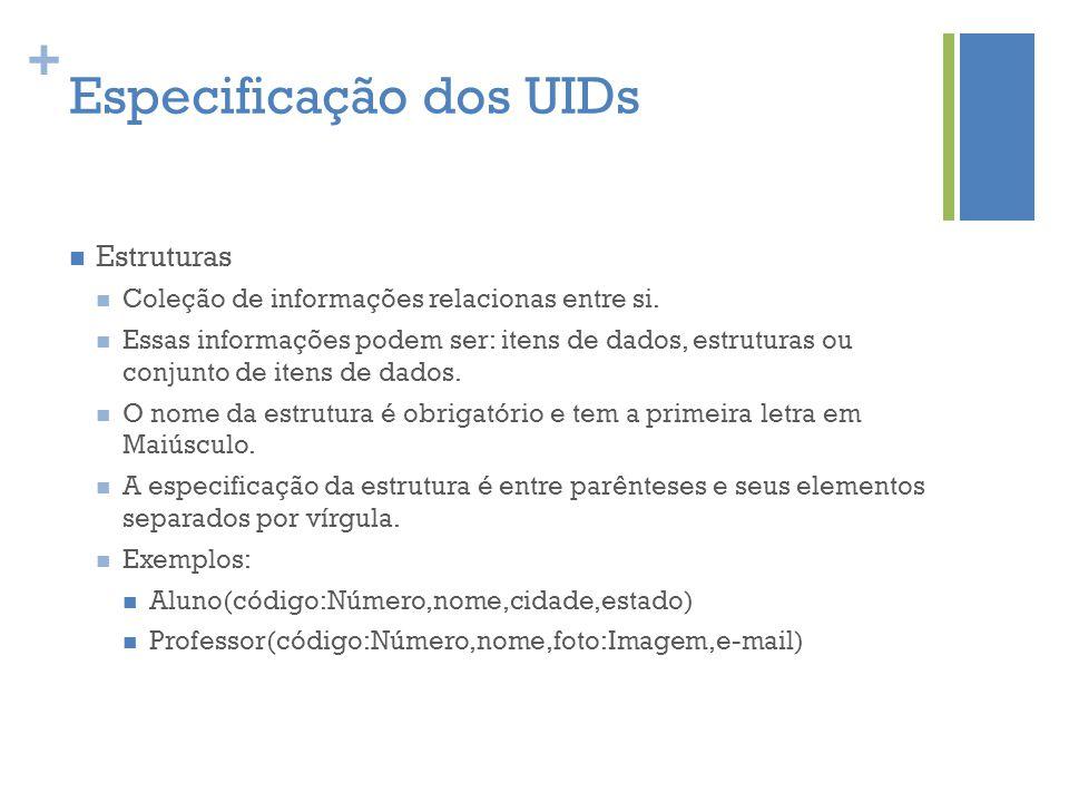 Especificação dos UIDs