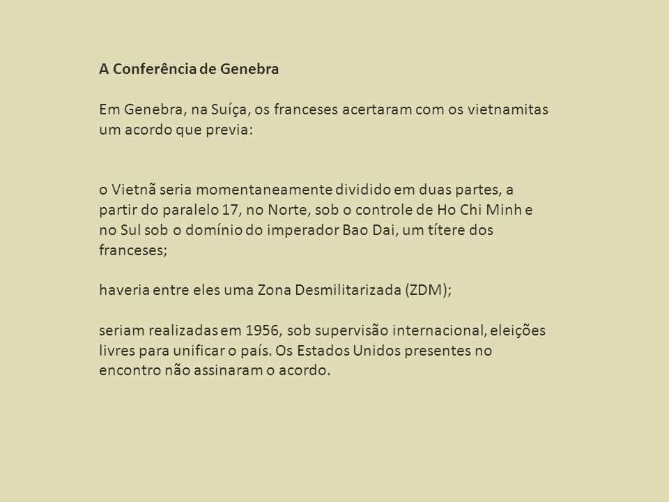 A Conferência de Genebra