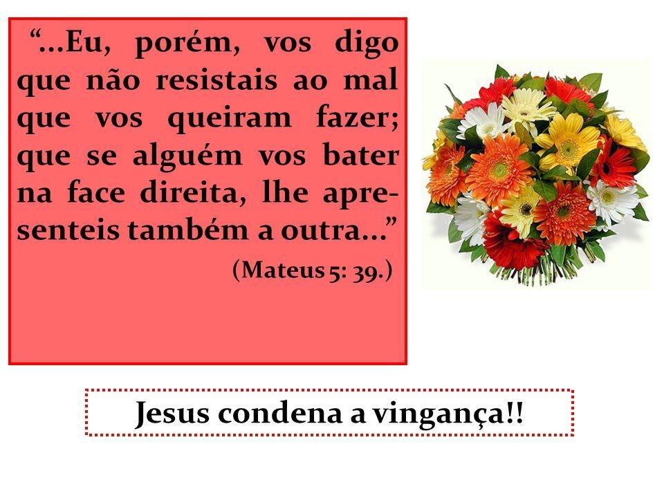 Jesus condena a vingança!!