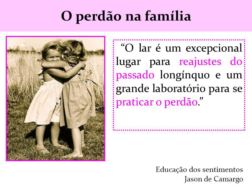 O perdão na família O lar é um excepcional lugar para reajustes do passado longínquo e um grande laboratório para se praticar o perdão.