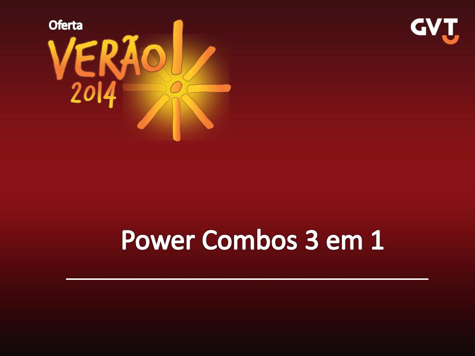 Oferta Power Combos 3 em 1