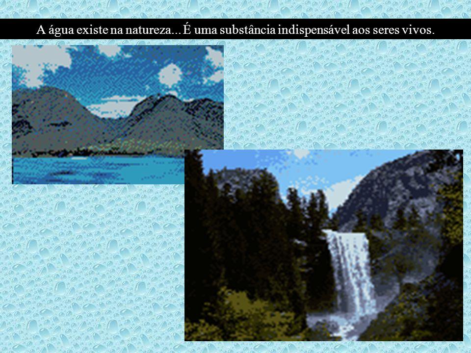 A água existe na natureza