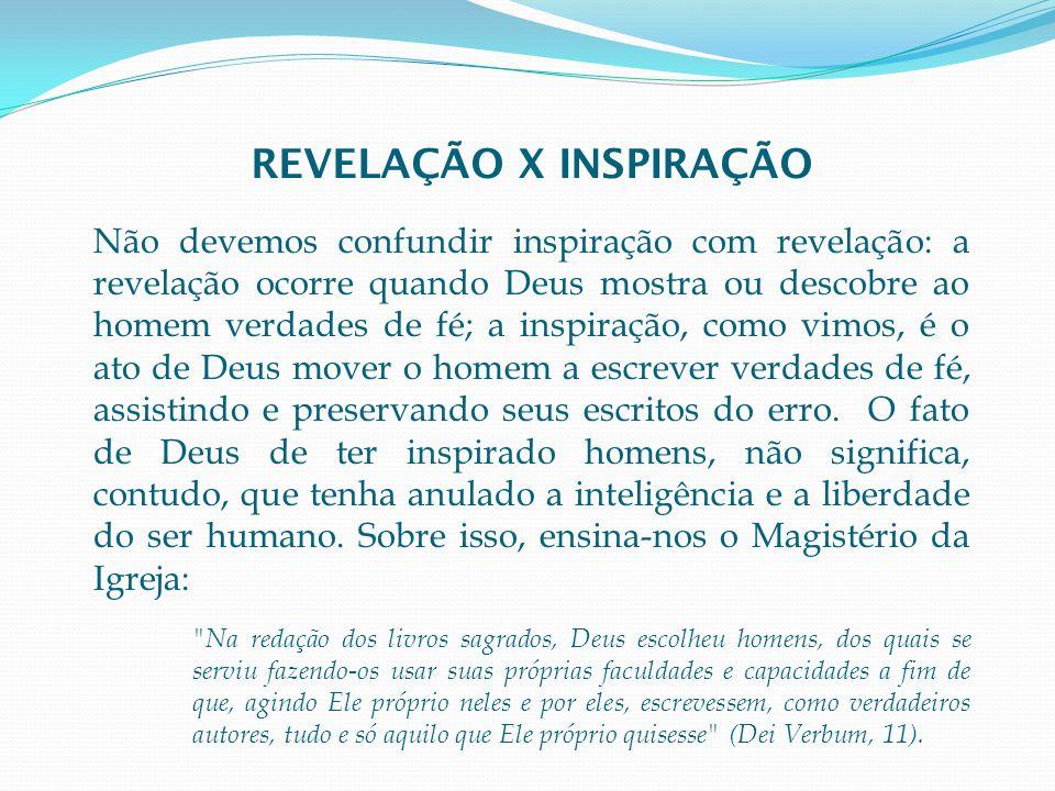 REVELAÇÃO X INSPIRAÇÃO