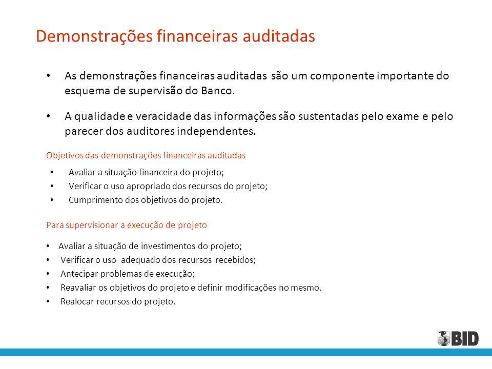Demonstrações financeiras auditadas