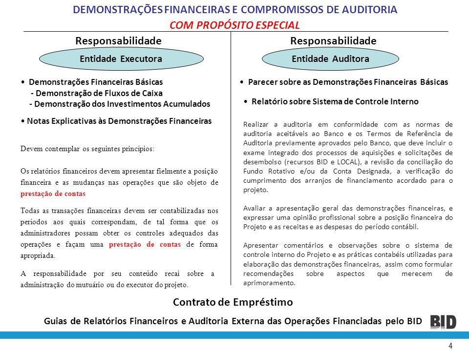 DEMONSTRAÇÕES FINANCEIRAS E COMPROMISSOS DE AUDITORIA