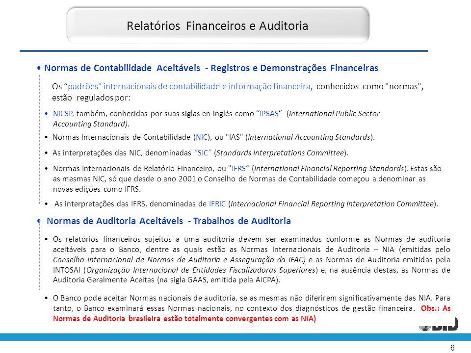 Relatórios Financeiros e Auditoria