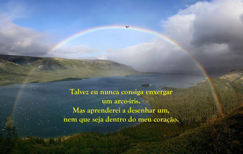 Talvez eu nunca consiga enxergar um arco-íris
