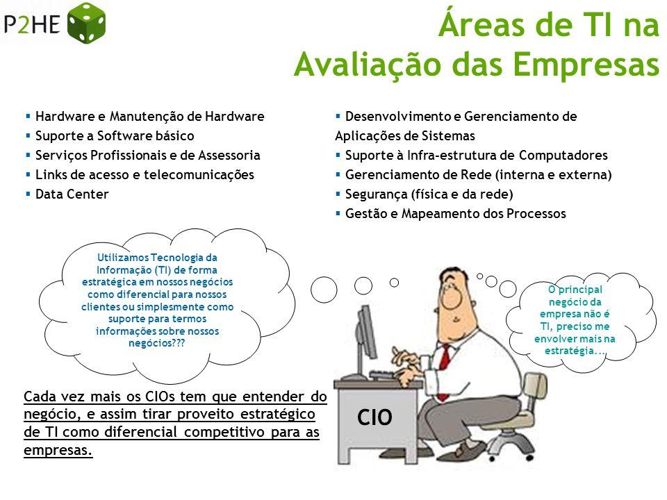 Áreas de TI na Avaliação das Empresas