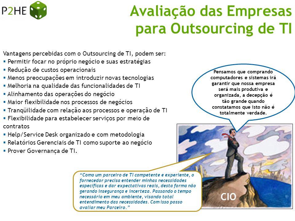Avaliação das Empresas para Outsourcing de TI