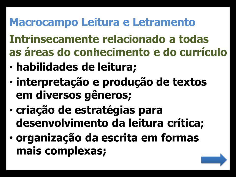 Macrocampo Leitura e Letramento