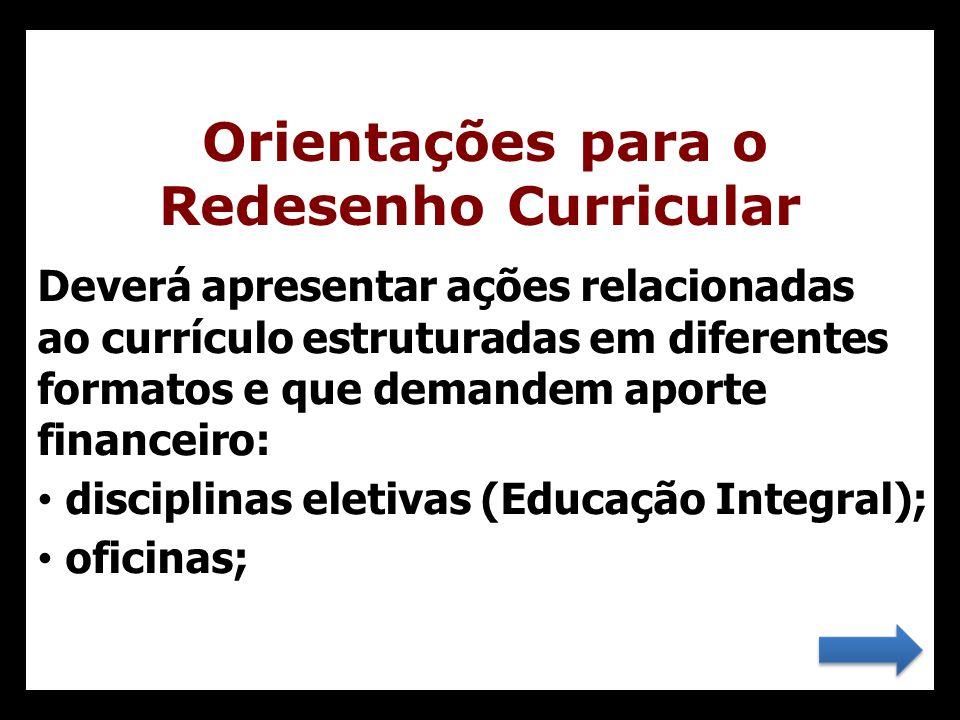 Orientações para o Redesenho Curricular