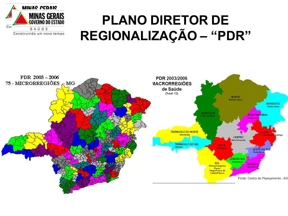 PLANO DIRETOR DE REGIONALIZAÇÃO – PDR