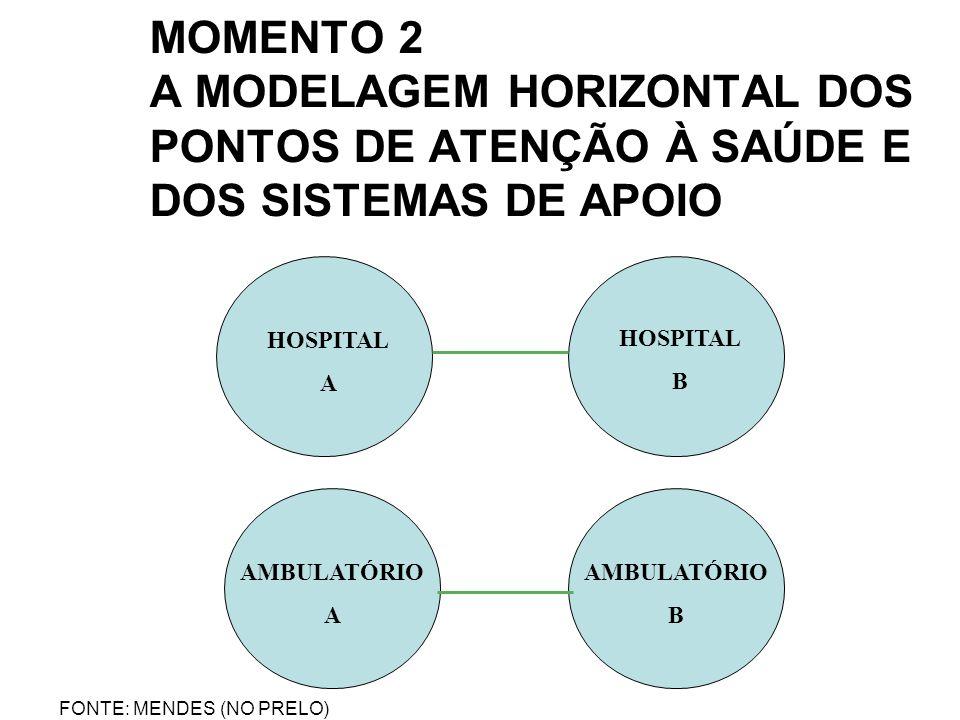 MOMENTO 2 A MODELAGEM HORIZONTAL DOS PONTOS DE ATENÇÃO À SAÚDE E DOS SISTEMAS DE APOIO