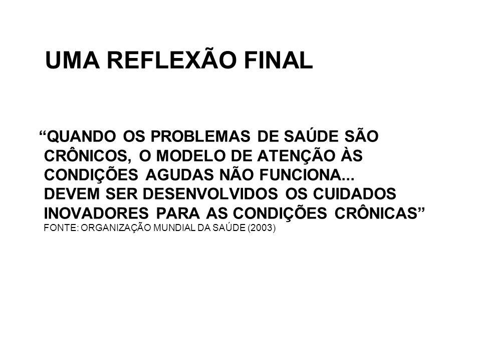 UMA REFLEXÃO FINAL