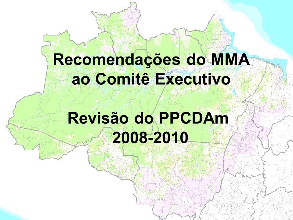 Recomendações do MMA ao Comitê Executivo Revisão do PPCDAm 2008-2010