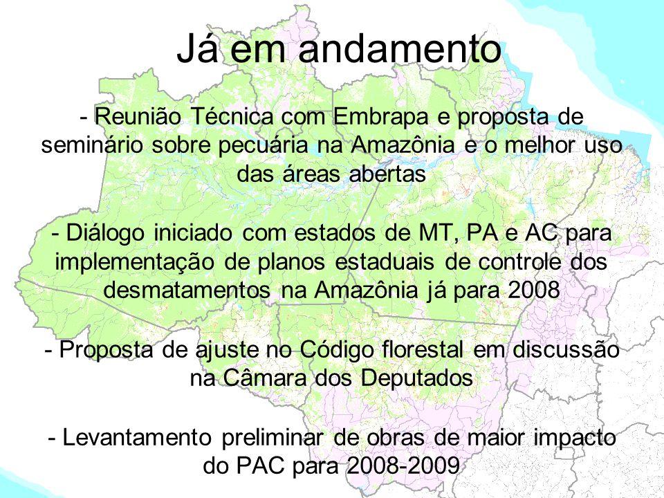Já em andamento - Reunião Técnica com Embrapa e proposta de seminário sobre pecuária na Amazônia e o melhor uso das áreas abertas.