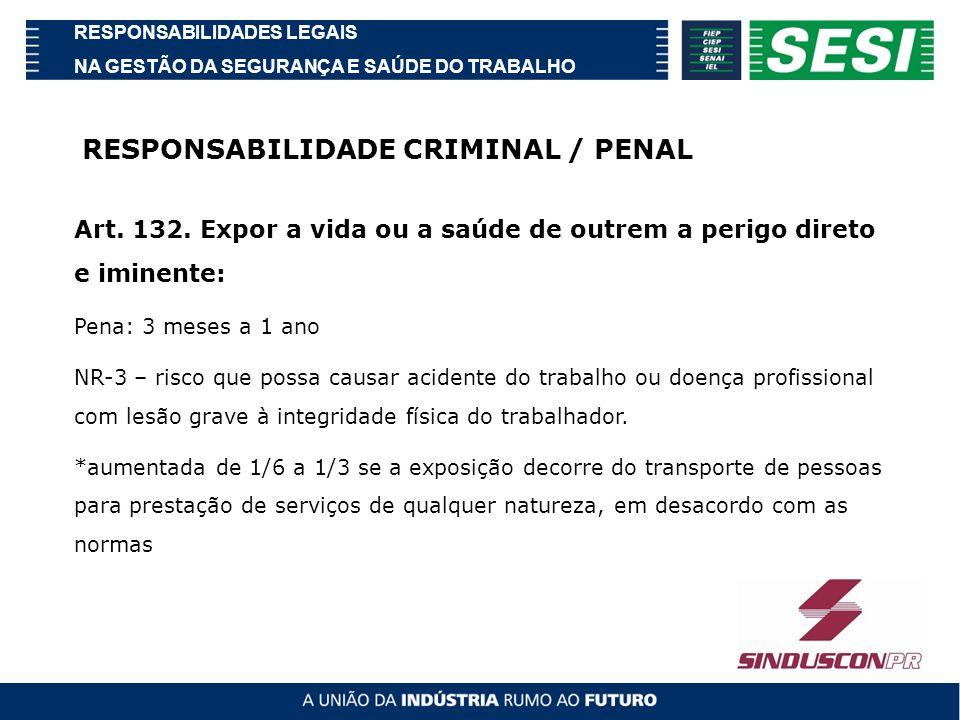 RESPONSABILIDADE CRIMINAL / PENAL