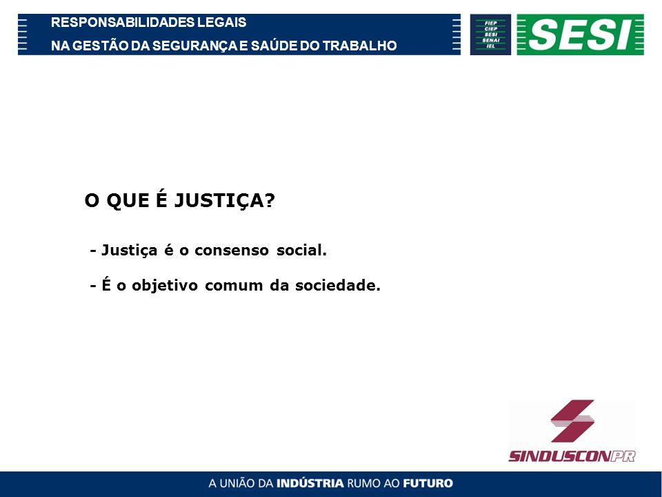 O QUE É JUSTIÇA - Justiça é o consenso social.